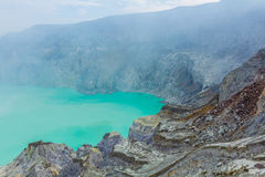 Kawah Ijen Volcano in East Java , Indonesia Stock Image