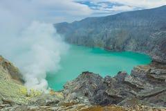 Kawah Ijen Volcano in East Java , Indonesia Royalty Free Stock Photography