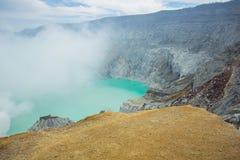 Kawah Ijen Volcano in East Java , Indonesia Royalty Free Stock Photos