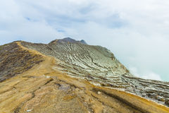 Kawah Ijen Volcano in East Java , Indonesia Royalty Free Stock Image