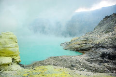 Kawah Ijen volcano in East Java , Indonesia Royalty Free Stock Images