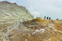 Kawah Ijen Volcano In East Java , Indonesia Royalty Free Stock Photo