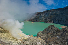 Kawah Ijen volcano, Java, Indonesia Stock Images