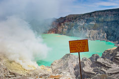 Kawah Ijen volcano, Java, Indonesia Stock Image