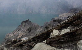 Kawah Ijen. Volcano, Java,Indonesia royalty free stock photo