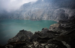 Kawah Ijen. Volcano, Java,Indonesia royalty free stock image