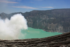Kawah Ijen volcano on Java, Indonesia Royalty Free Stock Photo
