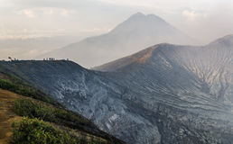 Kawah ijen vulkaan stock foto's