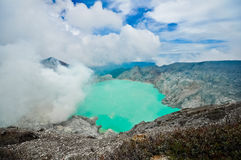 Kawah ijen Vulkan Stockfoto