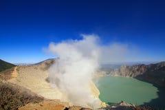 Kawah ijen Vulkan Stockfotos