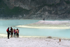 Crater in Kawah Putih Bandung Indonesia Royalty Free Stock Photo