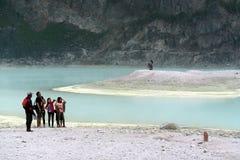 Kawah Putih Bandung Indonesien Royaltyfri Foto