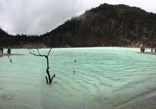 Kawah Putih jezioro Zdjęcie Royalty Free
