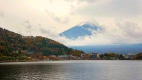 Kawahuchiko town and Mt.Fuji san. Kawahuchiko town near the lake with Mt.Fuji san at autumn, Japan Royalty Free Stock Image