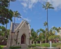 Kawaiahao教会在檀香山,夏威夷 库存照片