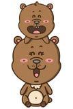 Kawaii棕熊 免版税库存照片