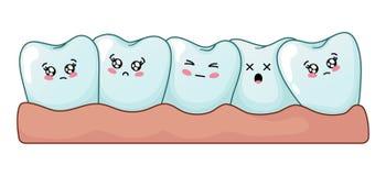 Kawaii牙齿保护 皇族释放例证