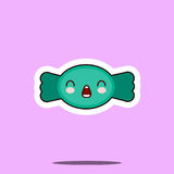 Kawaii糖果糖美好的逗人喜爱的设计平的动画片象 免版税库存照片