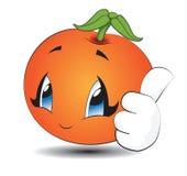 Апельсин Kawaii шаржа Стоковые Фотографии RF