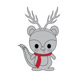 Kawaii animal style with Christmas theme  icon design Royalty Free Stock Photos