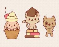 Kawaii animals Stock Photos
