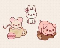 Kawaii animals Stock Image