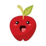 Kawaii apple fruit juicy Royalty Free Stock Image
