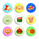 Kawaii badges - Set IV Royalty Free Stock Image