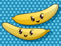 Kawaii banana icons Stock Photo