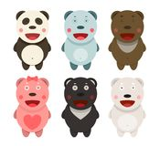 Kawaii Bears Collection Royalty Free Stock Image