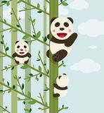 Kawaii Bears in Forest Stock Image
