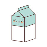 Kawaii box carton milk juice. Illustration eps 10 Stock Image