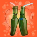 Kawaii butelki słoma Zdjęcia Royalty Free