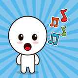 kawaii character cartoon music note royalty free illustration