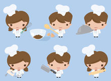 Kawaii Chefs Stock Photos