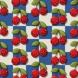 Kawaii cherry icons Stock Photos