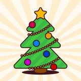 Kawaii Christmas tree Royalty Free Stock Images