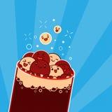 Kawaii cola bubbles. Stock Photos