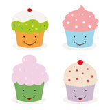Kawaii cupcakes Stock Image