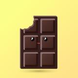 Kawaii delicioso do chocolate ilustração do vetor