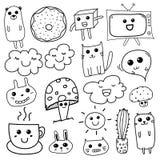 Kawaii Doodle For Kids. Hand Drawn Vector Illustration stock illustration