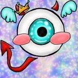 Kawaii eye royalty free illustration