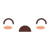 Kawaii facial expression icon Royalty Free Stock Image