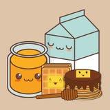 Kawaii food icon image Stock Photo
