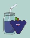 Kawaii food icon image Stock Photos