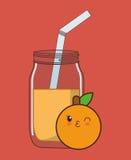 Kawaii food icon image Royalty Free Stock Image