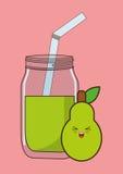 Kawaii food icon image Stock Photography