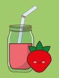 Kawaii food icon image Stock Images