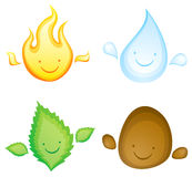Kawaii four elements Stock Photography