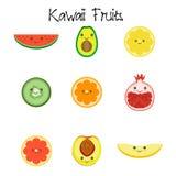 Kawaii fruit Collection icon Royalty Free Stock Image